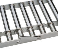 Magnetic grate with telescopic MR cores